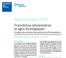 Note de cadrage appel à projets - Transitions alimentaires et agro-écologiques fondaiton Crarasso