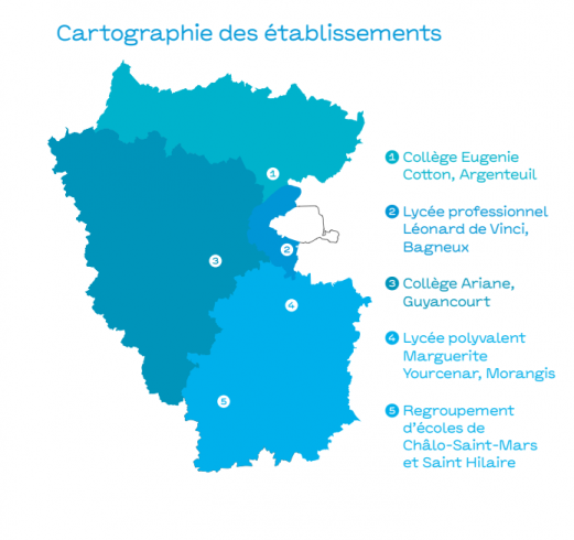 carte etablissements pegase