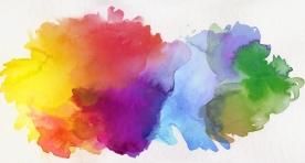 aquarell farben abstrakt freigestellt