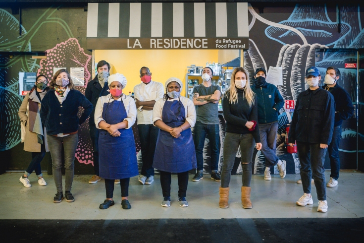 Refugee chefs cook for the homeless and healthcare workers